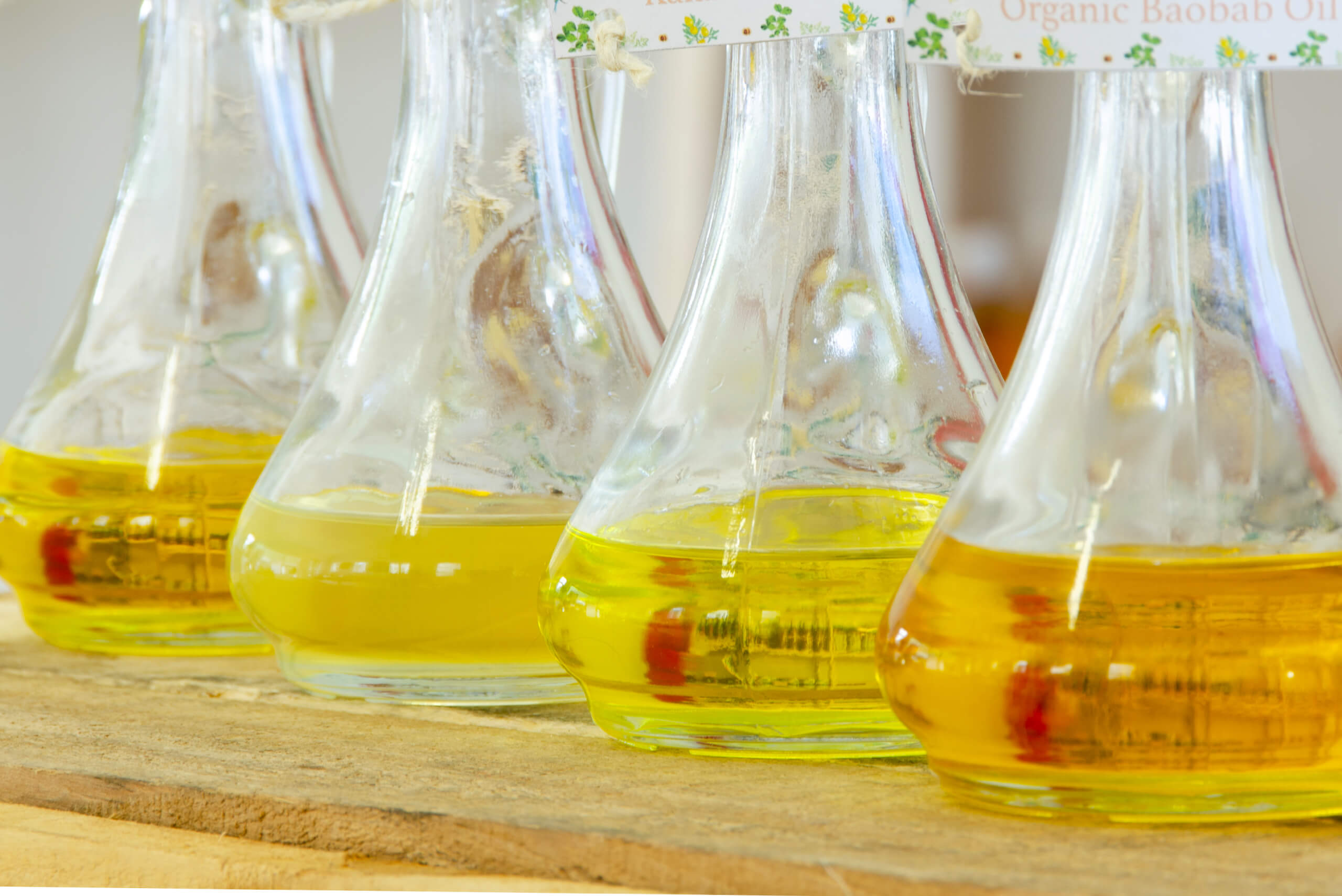 Botanical oils contain a variety of bioactive molecules with skin healing and nourishing properties.