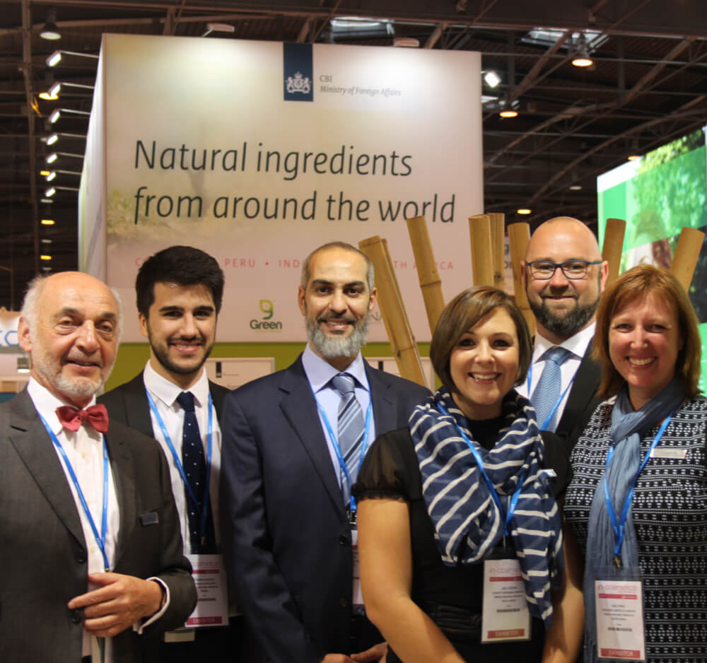 Botanica Natural Products team at in-cosmetics
